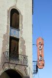 Het historische Teken van het Hotel stock afbeeldingen