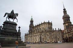 Het historische vierkant van Dresden royalty-vrije stock foto's