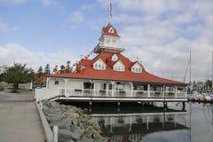 Het historische vroegere botenhuis van Hoteldel coronado op Coronado-Eiland Stock Afbeelding