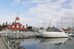 Het historische vroegere botenhuis van Hoteldel coronado op Coronado-Eiland Stock Fotografie