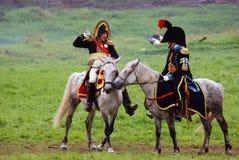 Het historische weer invoeren van de Borodinoslag in Rusland Stock Foto's