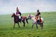Het historische weer invoeren van de Borodinoslag in Rusland Royalty-vrije Stock Fotografie