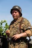 Het historische weer invoeren van WO.II in Kiev, de Oekraïne Stock Fotografie