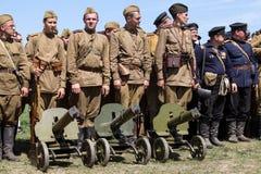 Het historische weer invoeren van WO.II in Kiev, de Oekraïne Stock Foto