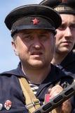 Het historische weer invoeren van WO.II in Kiev, de Oekraïne Royalty-vrije Stock Foto