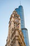 De Architectuur van Chicago, historisch en modern Stock Foto