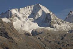 Het Hochgall-hoogtepunt van sneeuw bij daling, van Reintal, Italiaanse Alpen Royalty-vrije Stock Afbeeldingen