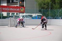 Het hockey van de rol in Oostenrijk Stock Fotografie