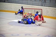 Het Hockey van de Slee van het ijs Royalty-vrije Stock Fotografie
