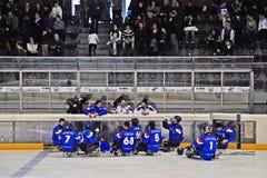 Het Hockey van de Slee van het ijs Royalty-vrije Stock Afbeelding