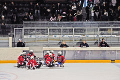 Het Hockey van de Slee van het ijs Royalty-vrije Stock Afbeeldingen