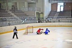Het Hockey van de Slee van het ijs Stock Fotografie