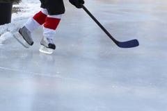 Het Hockey van de vijver stock fotografie