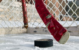 Het Hockey van de winter Stock Afbeeldingen