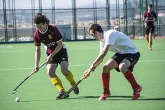 Het hockey van Gibraltar - Grammatici HC tegenover Malaga Spanje Royalty-vrije Stock Afbeelding