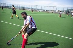 Het hockey van Gibraltar - Grammatici HC tegenover Malaga Spanje Royalty-vrije Stock Afbeeldingen