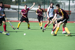 Het hockey van Gibraltar - Grammatici HC tegenover Malaga Spanje Royalty-vrije Stock Foto