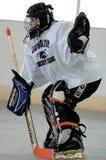 Het hockeyspel van de de jeugdrol stock foto
