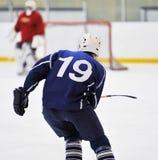 Het hockeyspeler van het onduidelijke beeld Stock Afbeeldingen