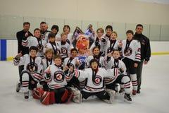 Het Hockeytoernooien van de jeugdjongens royalty-vrije stock fotografie
