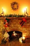 Het Hoekje bij de haard van Kerstmis Royalty-vrije Stock Fotografie