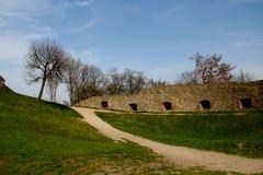 Het hof bij het kasteel Architectuurmonument royalty-vrije stock foto