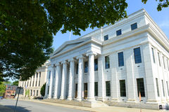 Het Hof van appel die van New York, Albany, NY, de V.S. bouwen stock foto's