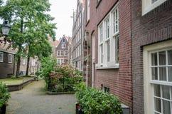 Het Hof van Begijnhof in Amsterdam Stock Foto