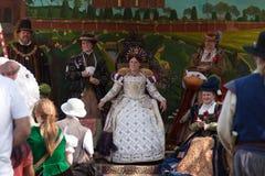 Het hof van de renaissance Eerlijke Koningin Royalty-vrije Stock Foto's