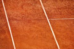 Het hof van de tennisklei bekeek hierboven van Stock Afbeelding