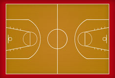 Het hof van het basketbal stock illustratie