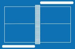 Het hof van het pingpong met frames Stock Foto