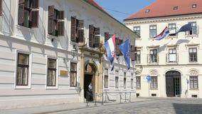 Het Hof van het verbod in Zagreb stock videobeelden