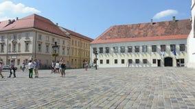 Het Hof van het verbod in Zagreb stock video