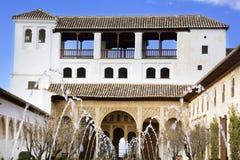Het Hof van La Acequia. royalty-vrije stock afbeelding