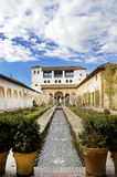 Het Hof van La Acequia. Generalife. stock foto's