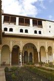Het Hof van La Acequia. Generalife. royalty-vrije stock foto's