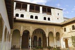 Het Hof van La Acequia Generalife stock fotografie