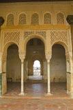 Het Hof van La Acequia in Generalife Alhambra, Granada, royalty-vrije stock fotografie