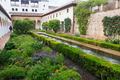 Het Hof van La Acequia in Generalife granada Royalty-vrije Stock Fotografie
