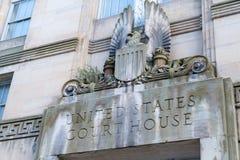 Het Hof van Verenigde Staten Huisvoorgevel Royalty-vrije Stock Foto's