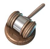 Het hofhouten hamer van de wet Stock Afbeeldingen