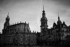 Het hofhuis en kapel van Dresden Stock Foto