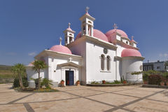 Het hofwerf van de kerk. stock afbeeldingen
