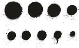 Het Hoge Detail Dots Abstract Vector Backgrounds Set 09 van de nevelverf Vector Illustratie