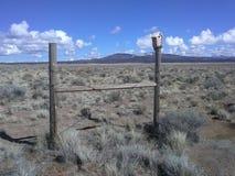 Het hoge huis van de woestijnvogel stock foto