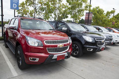 Het Hoge Land van Chevrolet Colorado op de voorzijde Stock Afbeeldingen