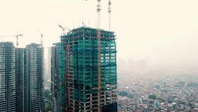 Het hoge stijging de bouw uitgaan stock videobeelden