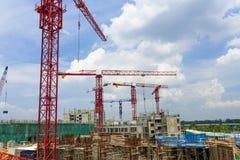 Het hoge stijging de bouw uitgaan Stock Fotografie