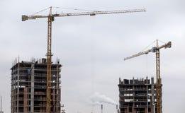 Het hoge stijging de bouw uitgaan Royalty-vrije Stock Afbeeldingen
